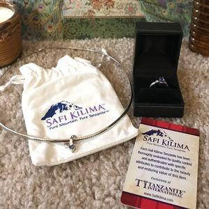Safi Kilima Silver Tanzanite & Diamond Ring